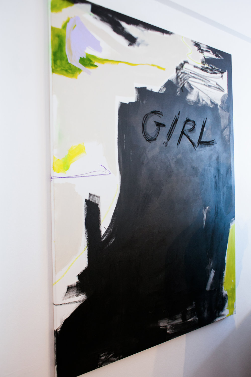 Girl. 2017.  Acrylic and charcoal on canvas. 150x110cm