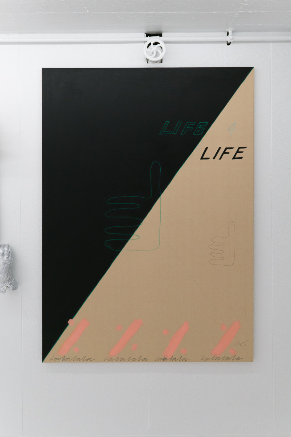 Life 4 Life. 2017.  Acrylic, pencil and pastels on canvas.  150x110cm.