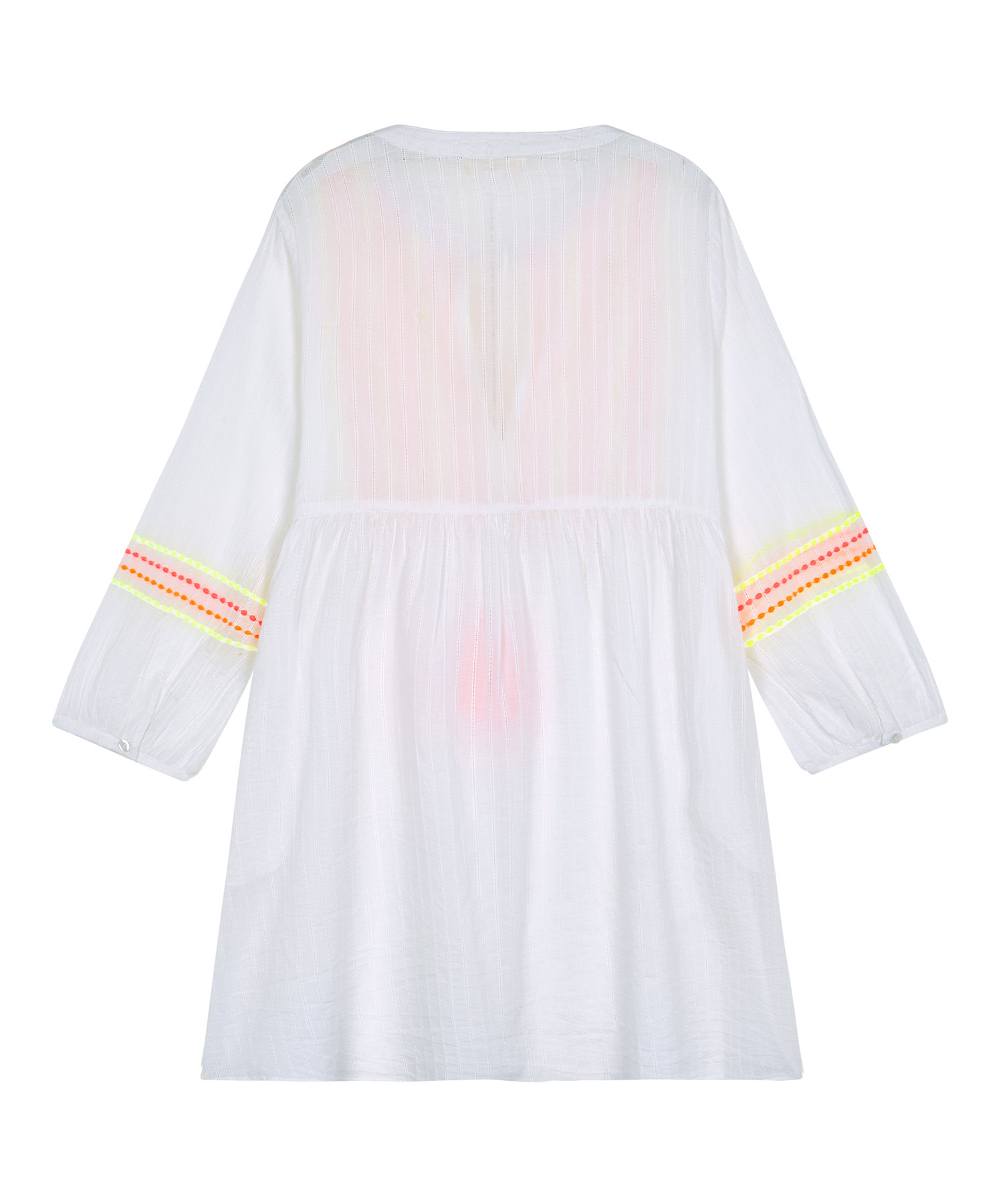 31576b4afdd Ladies White Embroidered Neon Lines Beach Dress — Gussy and Lou