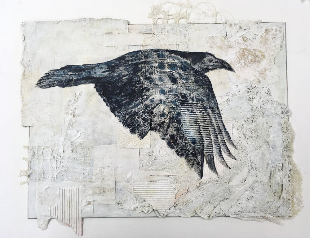 Raven #3, Bryce Canyon National Park - mixed media