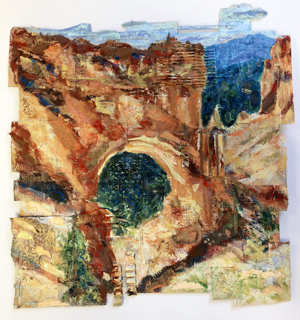Natural Bridge, Bryce Canyon National Park - mixed media