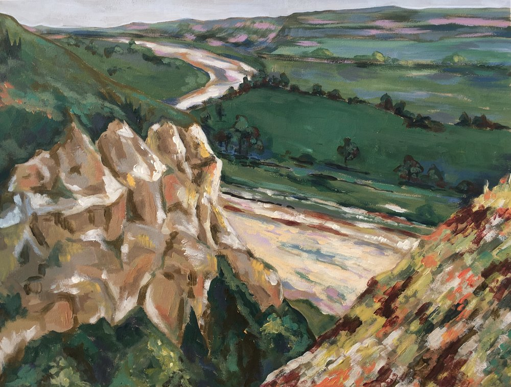 Wind Canyon Overlook - Theodore Roosevelt National Park