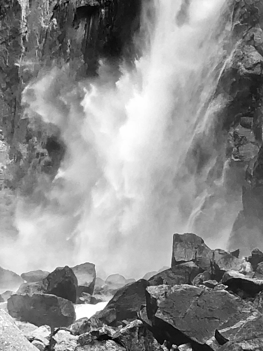 Bottom of Yosemite Falls - Yosemite