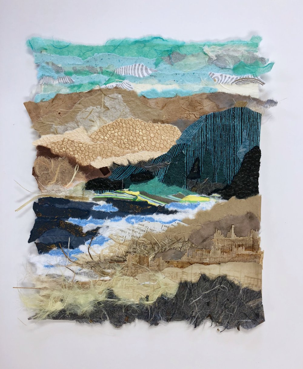 Santa Cruz Island, Channel Islands National Park - paper collage