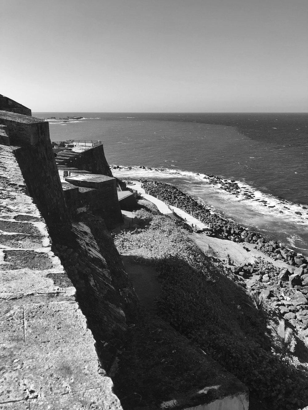 Stepping Down to the Sea, Castillo San Felipe del Morro, Puerto Rico