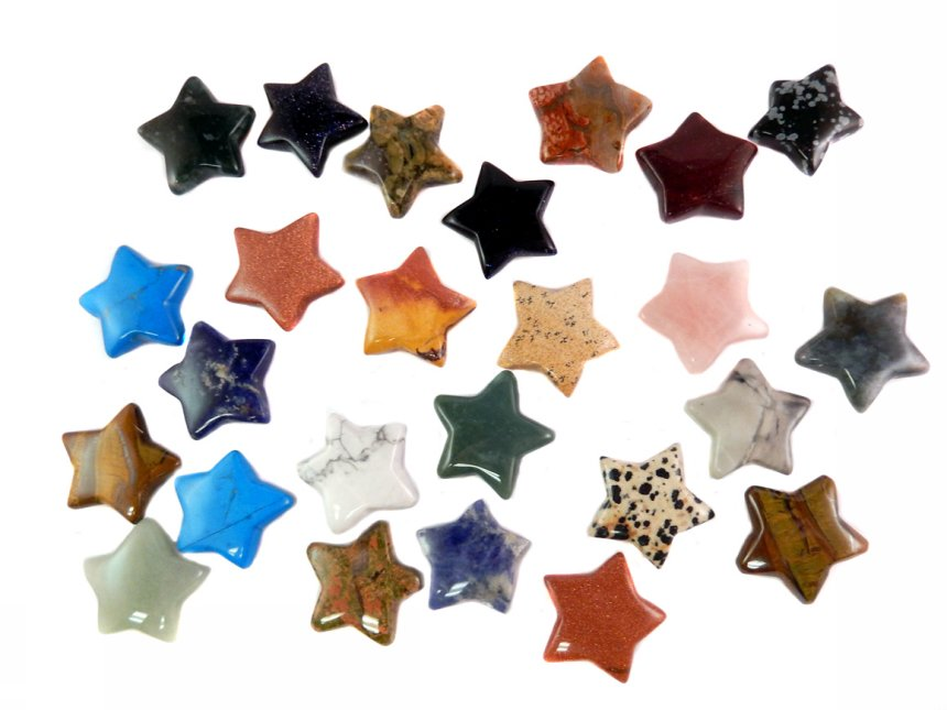 30mm Stars - Mixed 25 pc sheets $1.50/ea($37.50/sheet) -