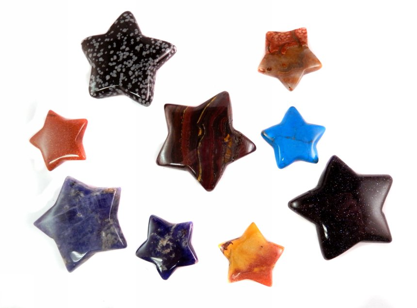 45mm Stars - Mixed25 pc sheets $2.75/ea($68.75/sheet) -