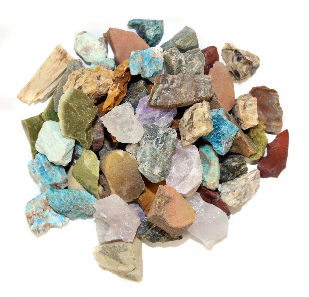 12 Stone Madagascar mix  **Labradorite, Rose Quartz, Septarian, Green Opal, Desert Jasper, Apatite, Amethyst, Petrified Wood, Girasol Opal, Red Jasper, Yellow Jasper & Chrysocolla**