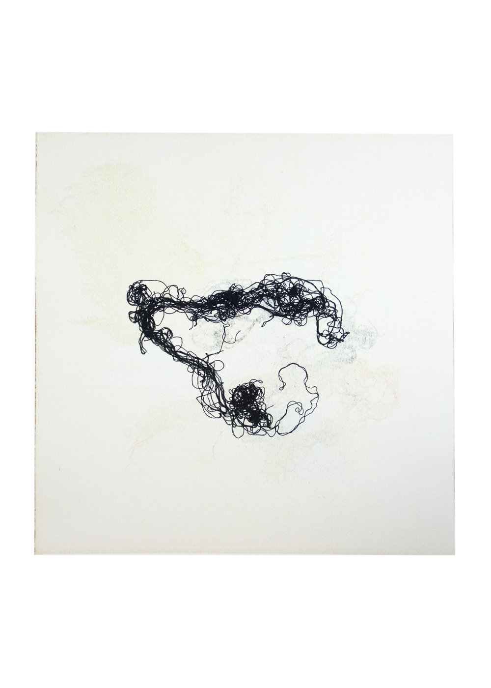 "Bianca, monoprint, image: 16"" x 15"""