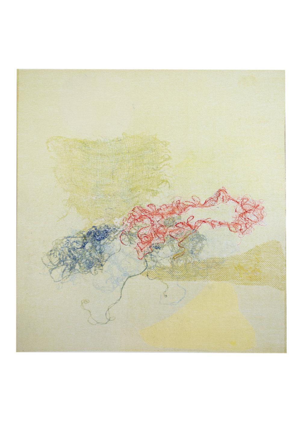 "Rosalind, monoprint, image: 16"" x 15"""