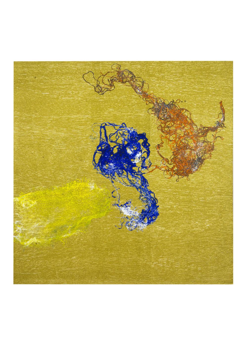"Solstice 4, monoprint, image: 16"" x 15"""