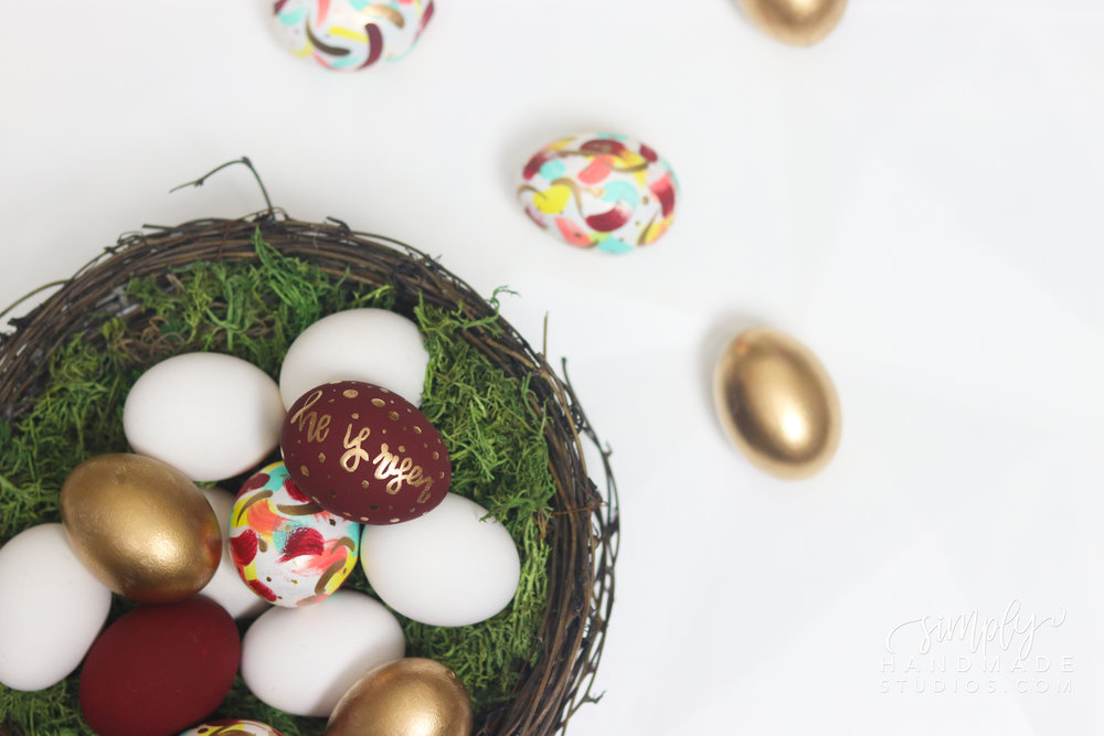 3 EASY Easter Egg Decorating Ideas