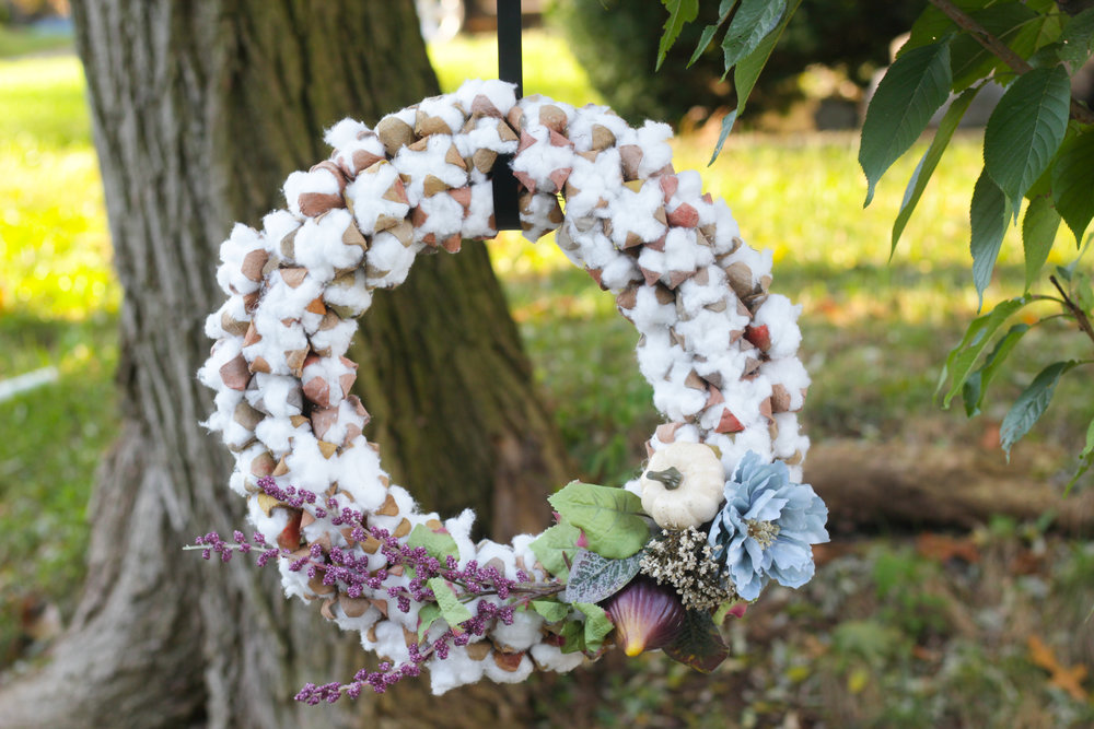 DIY Faux Cotton Stem Wreath (COMING SOON)