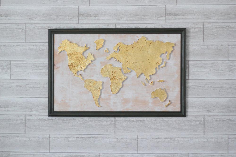 Cork Board World Map Wall Art (COMING SOON)
