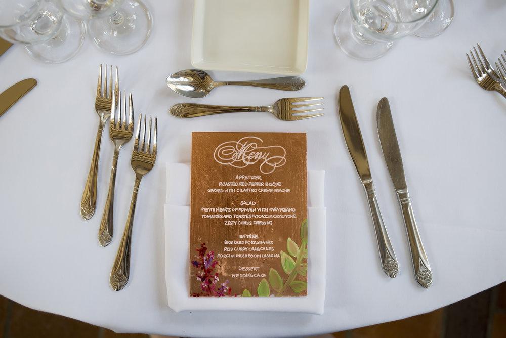 DIY Wedding Menu Template & How To