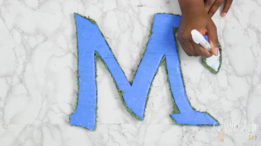 DIY Moss Decorative Letters - Simply Handmade Studios