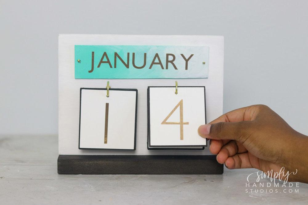 Diy Desk Calendar Simply Handmade Studios