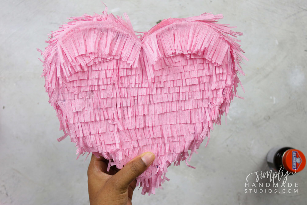 diy conversation heart pinata