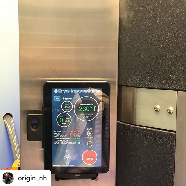 @origin_nh Cryotherapy session today! -230 degrees Fahrenheit. Maybe one day they'll let me go longer then three minutes lol. @peakrecoveryandhealthcenter #hwpo #recovery #recover #recovering #peakrecoveryandhealthcenter #cryotherapy #cryo #iceman #justbreathe