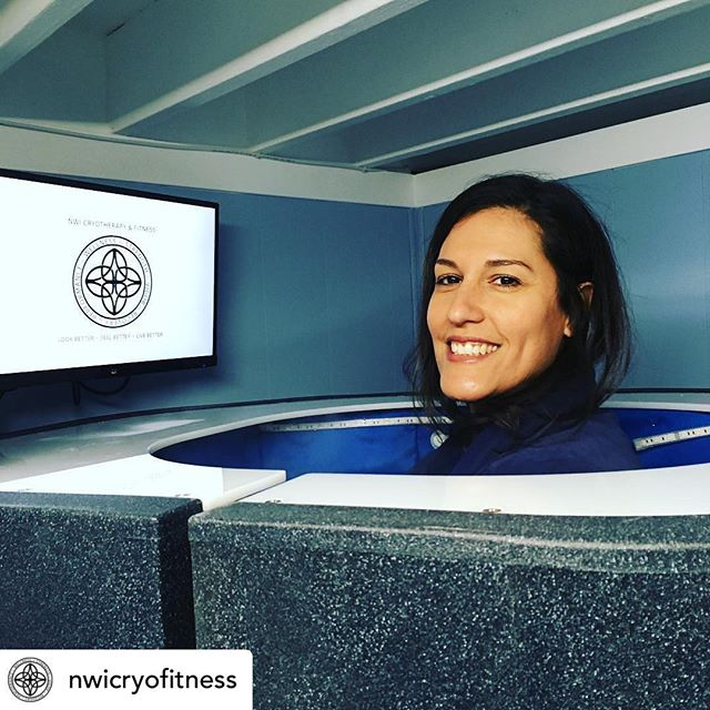 """""""Cryo for low back pain and energy boost for this Mokena girl!"""" #momlife #recovery #cryo #nwicryo #219 #painfree #allnatural #painwarrior #cryotherapy #cryoinnovations #wholebodycryotherapy #cryotherapychamber"""