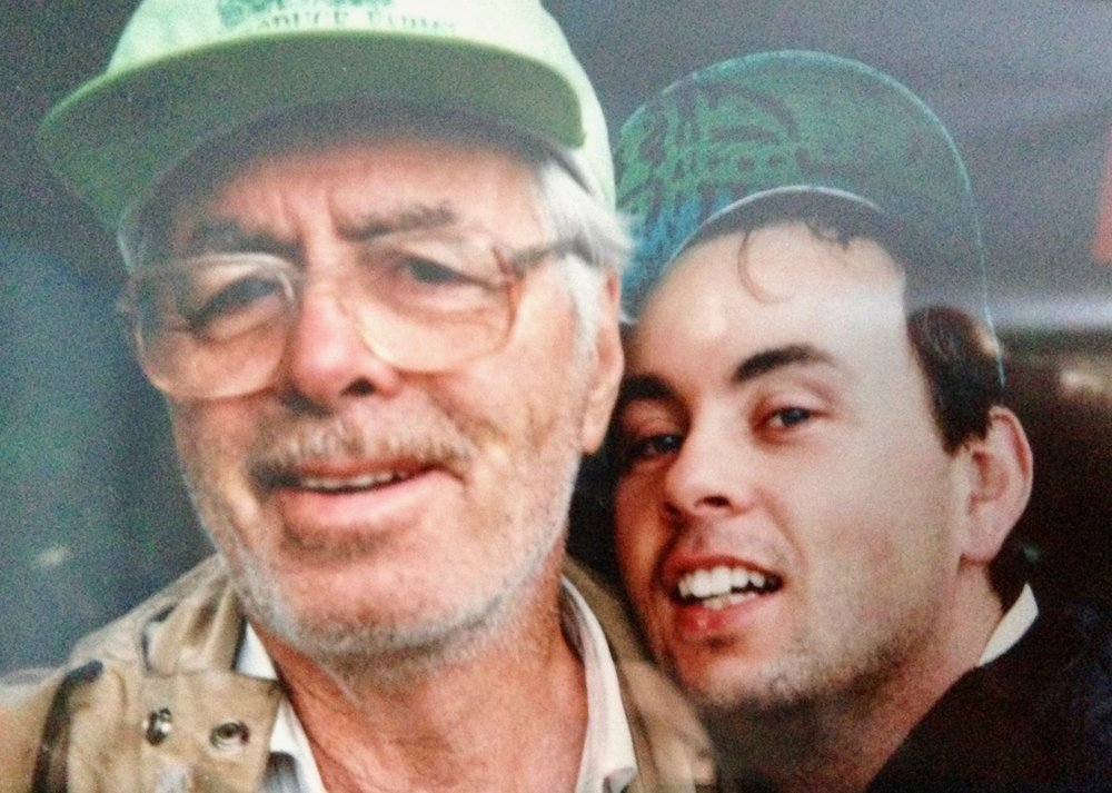 This is my Grandfather George and my Uncle Brett.  This selfie was from well before the time of selfies ... 1994
