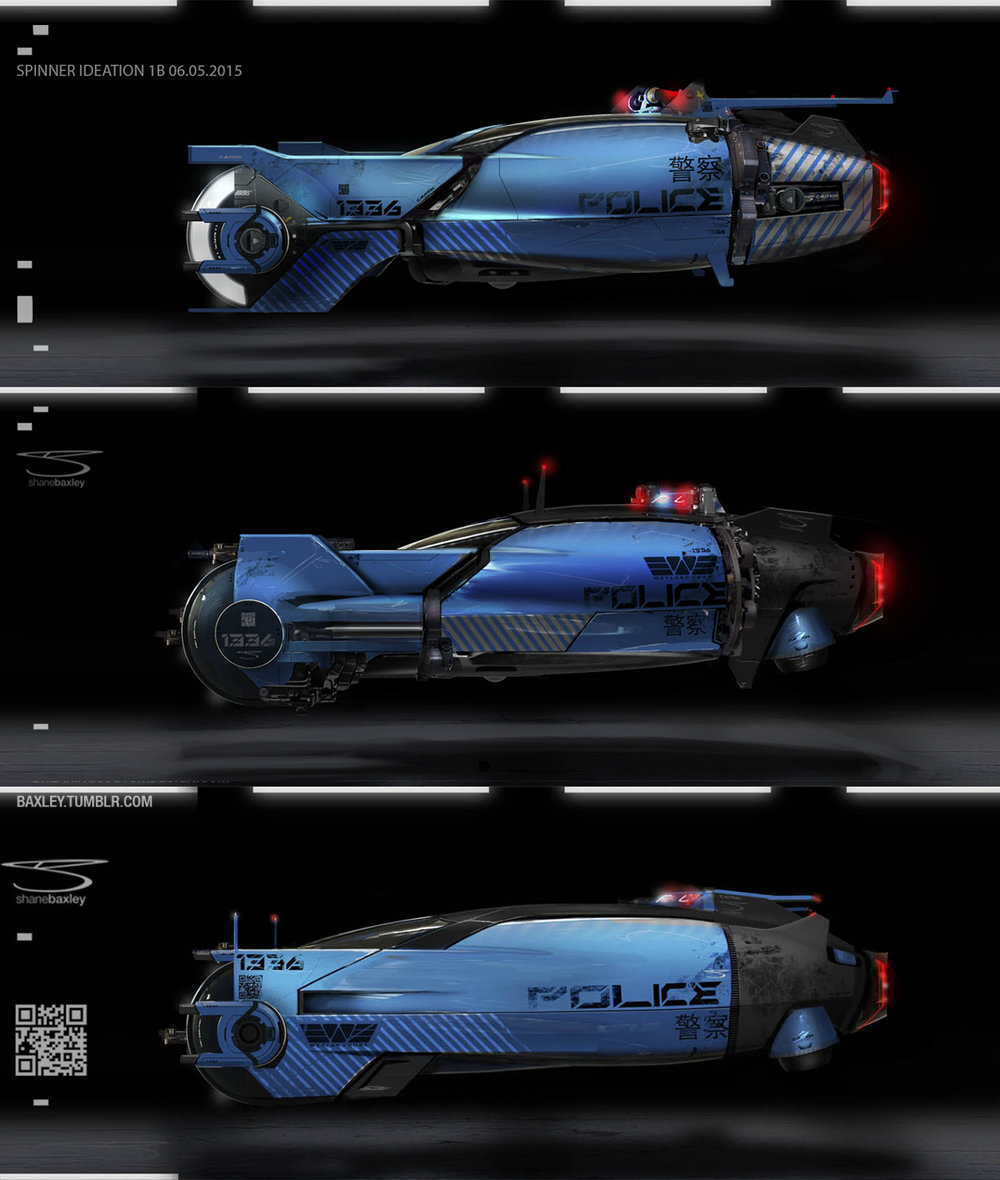 Blade Runner Spinner Concepts 2015