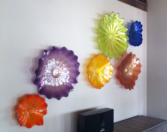 private residence - Wall flowers by Seattle Glass Blowing CompanyCharlene Ackley