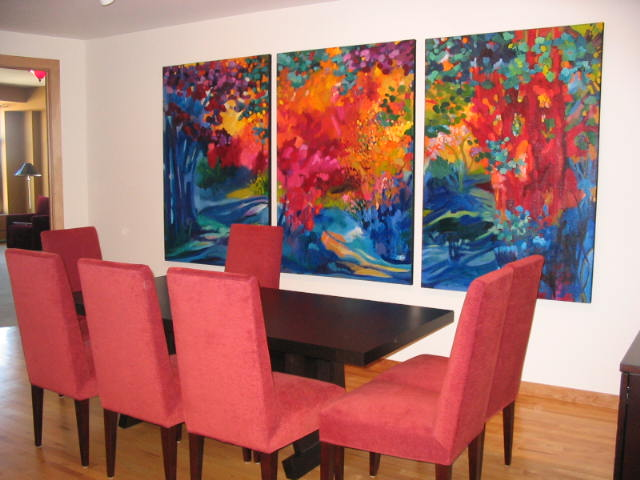 Private residence - Russ Vogt, triptych (sold)