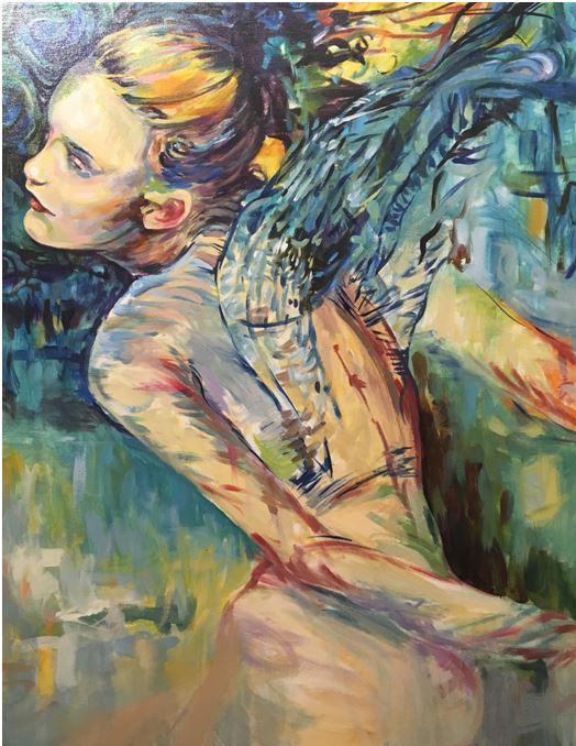 Selina McGrath  Wings 26 x 38  Acrylic on canvas Originally $1500   Sale $750