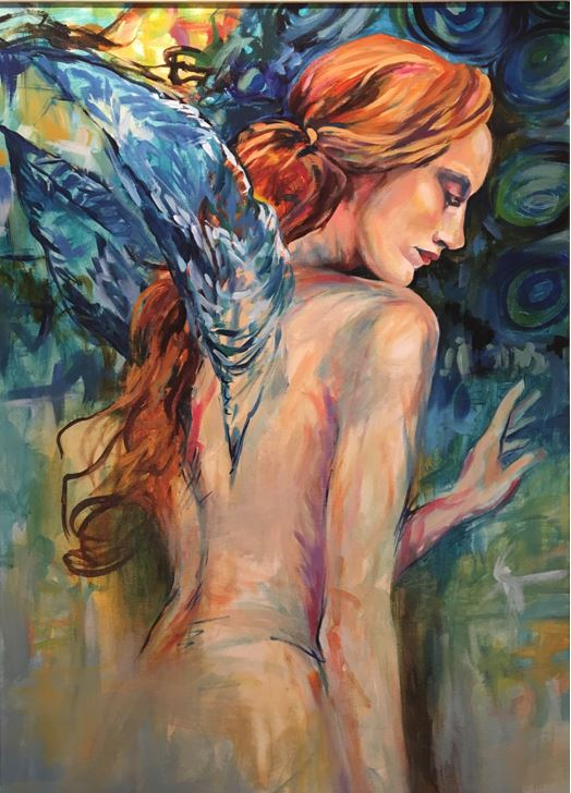 Selina McGrath    Wings II 26 x 38    Acrylic on canvas Originally $1500     Sale $750