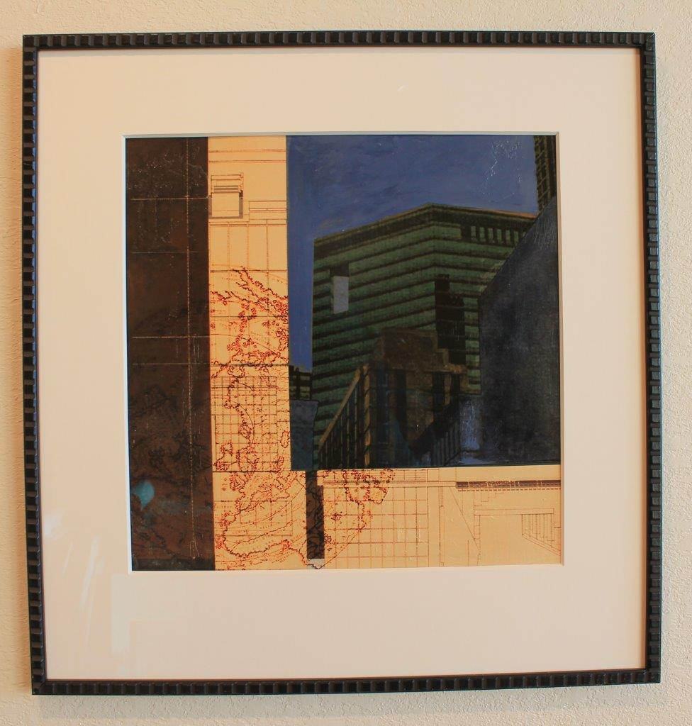 Artist    City Scape II 26 x 27    Mixed media on paper Originally $1025     Sale $450