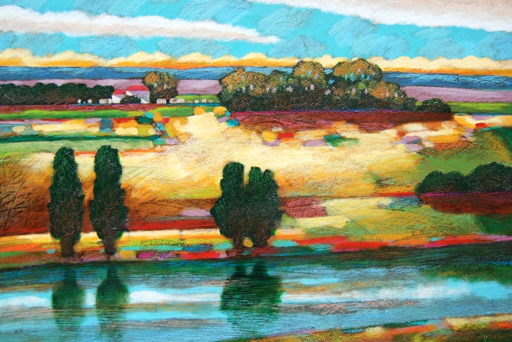 river - Robert Chapman36 x 24    Oil on paper