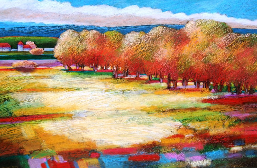 tree grove - Robert Chapman36 x 24    Oil on paper