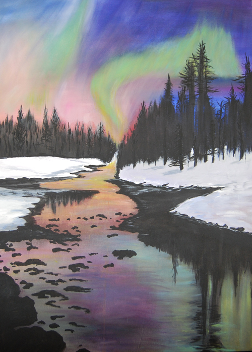 northern lights - Janella Fesenmaier40 x 50    Acrylic on canvas