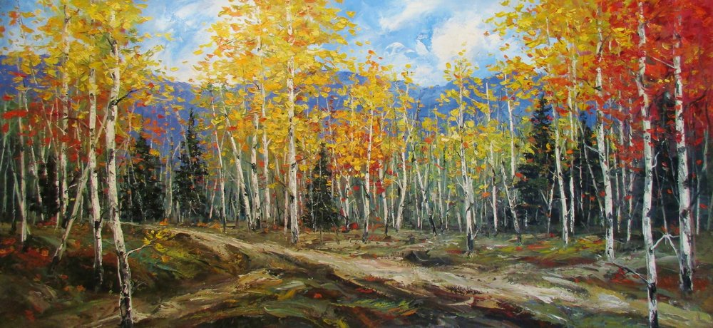 the final days of autumn - Tim Howe24 x 48    Oil on canvas