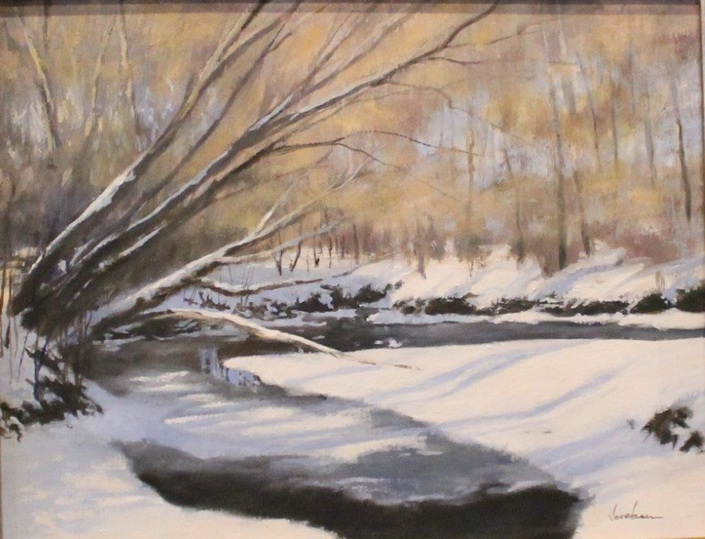 Winter shadows - Patricia Jacobson14 x 11    Oil on canvas