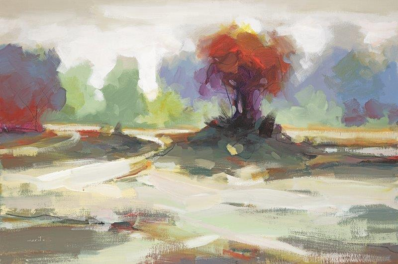 landscape - Cecil K36 x 24  Acrylic on paper