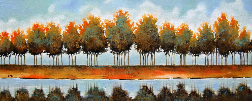 tree scape - Lister16 x 40    Oil on canvas