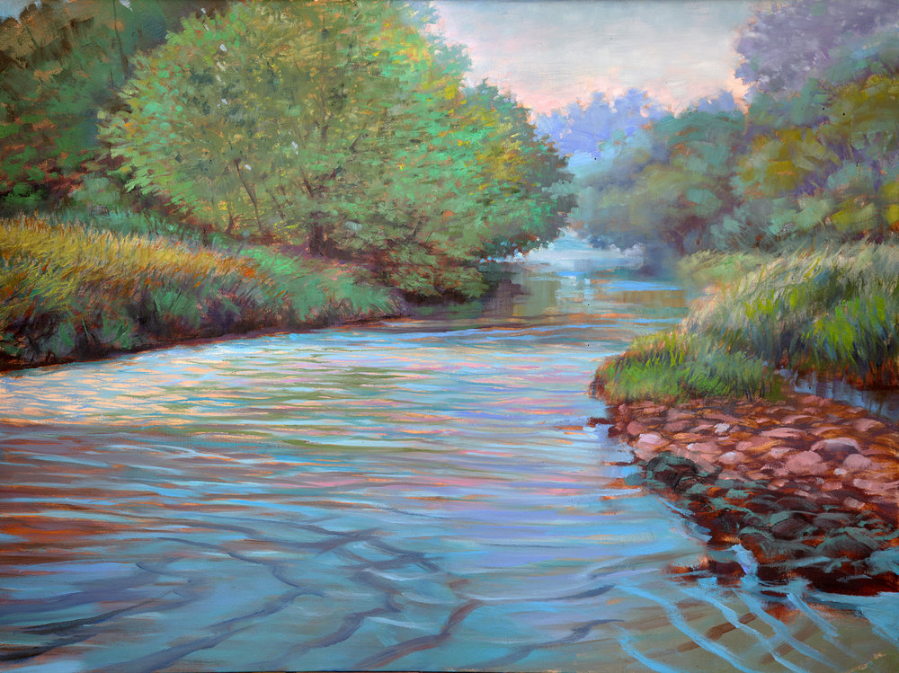 cedar river - Dan Mackerman36 x 48    Acrylic on canvas