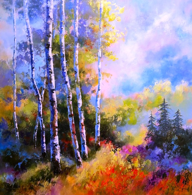 dayglow afternoon - Lynda Peterson48 x 48    Acrylic on canvas