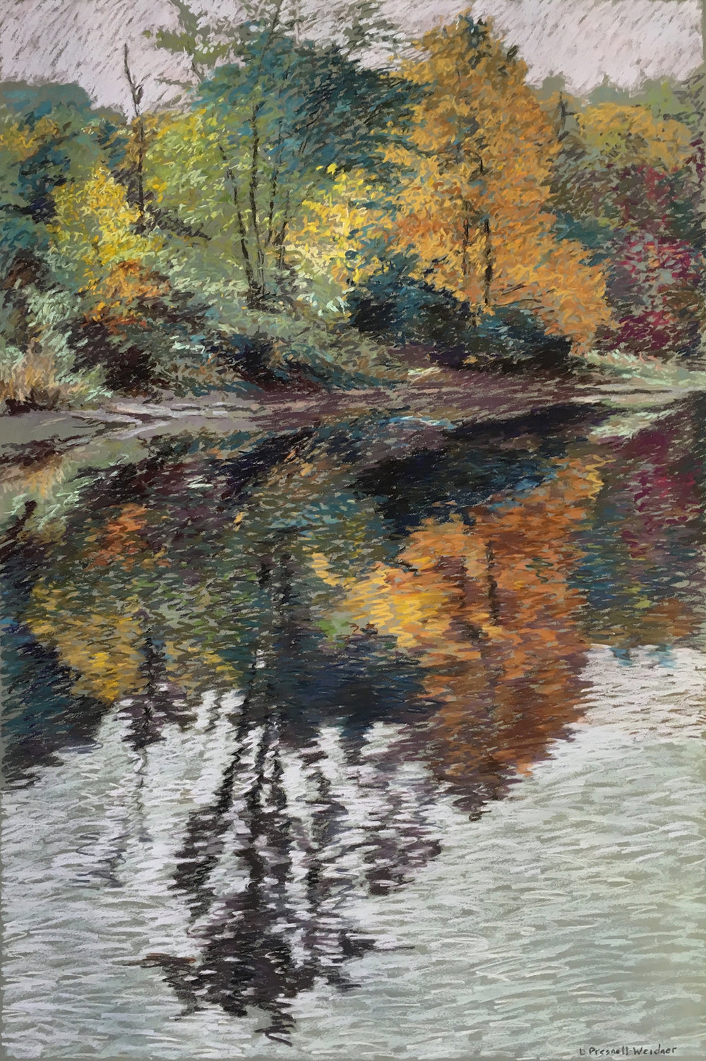 ls bridge west - Denise Presnell23.5 x 35.5    Pastel on paperSee more from this artist