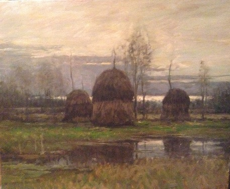 haystacks - Dennis Sheehan30 x 36    Oil on canvasSee more from this artist