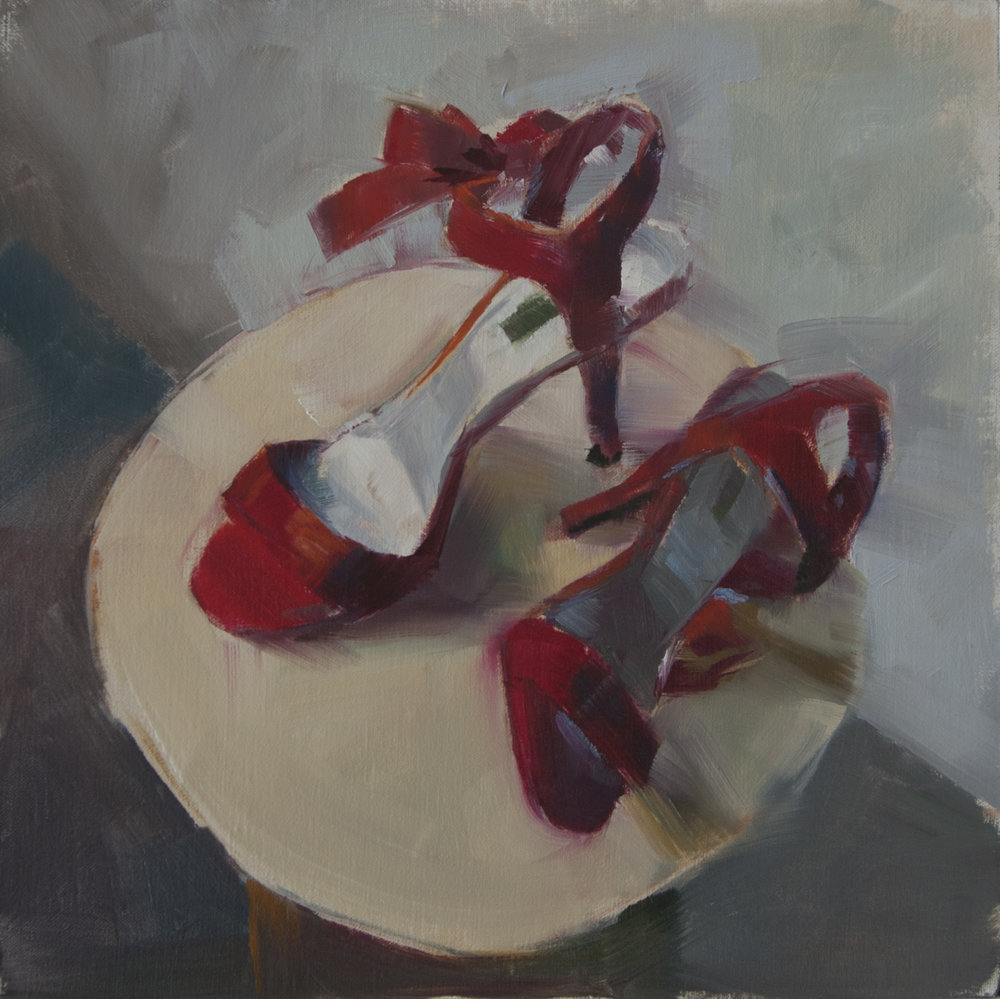 Red SAtin bows - Patricia Canney12 x 12    Oil on canvasSee more from this artist
