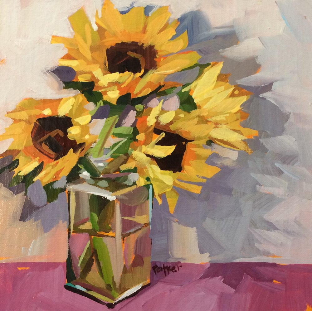 sunflower shadows - Teddi Parker8 x 8    Acrylic on canvasSee more from this artist