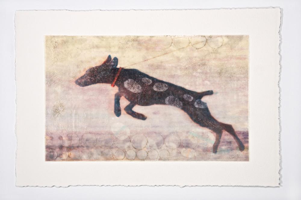 Six stone - Lori Henson15 x 23  Encaustic on paper