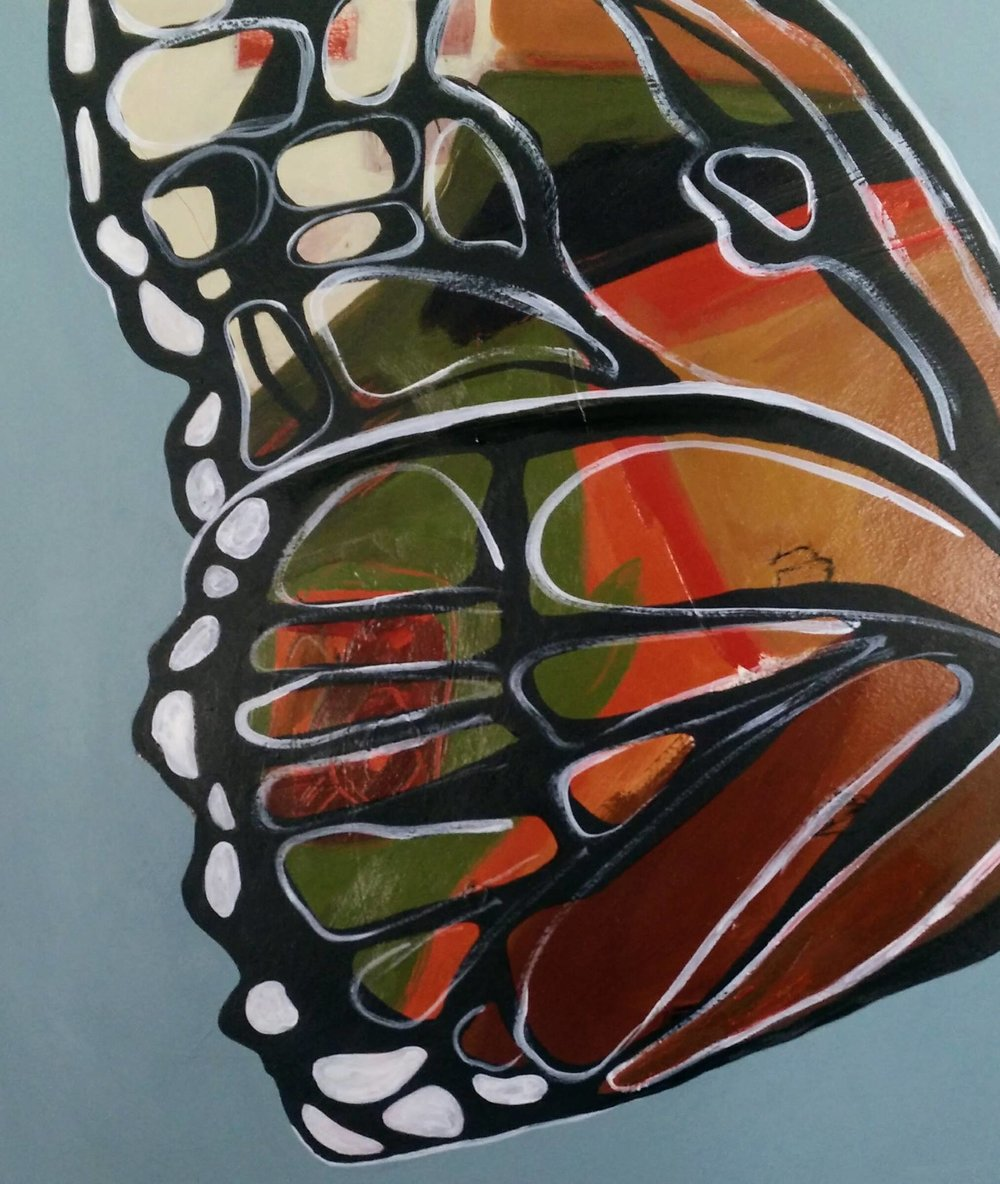 butterfly ii - Mari M Mondanelli17 x 20  Acyrlic on paper