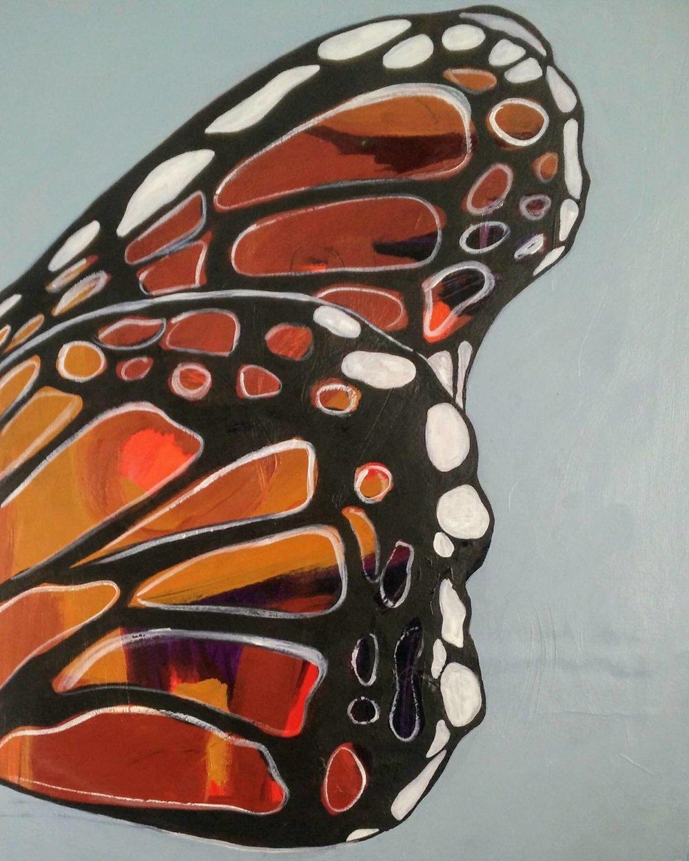 Butterfly - Mari M Mondanelli17 x 20  Acrylic on paper
