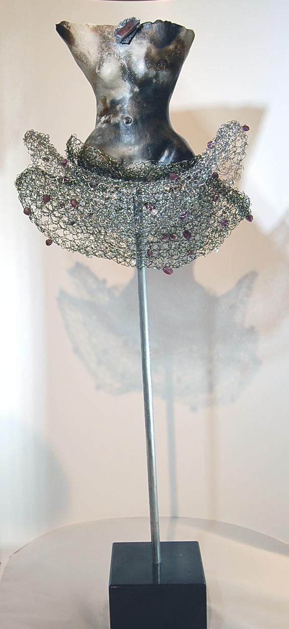 crochet pearls - Estella Fransbergen25 x 6 x 9  Mixed media