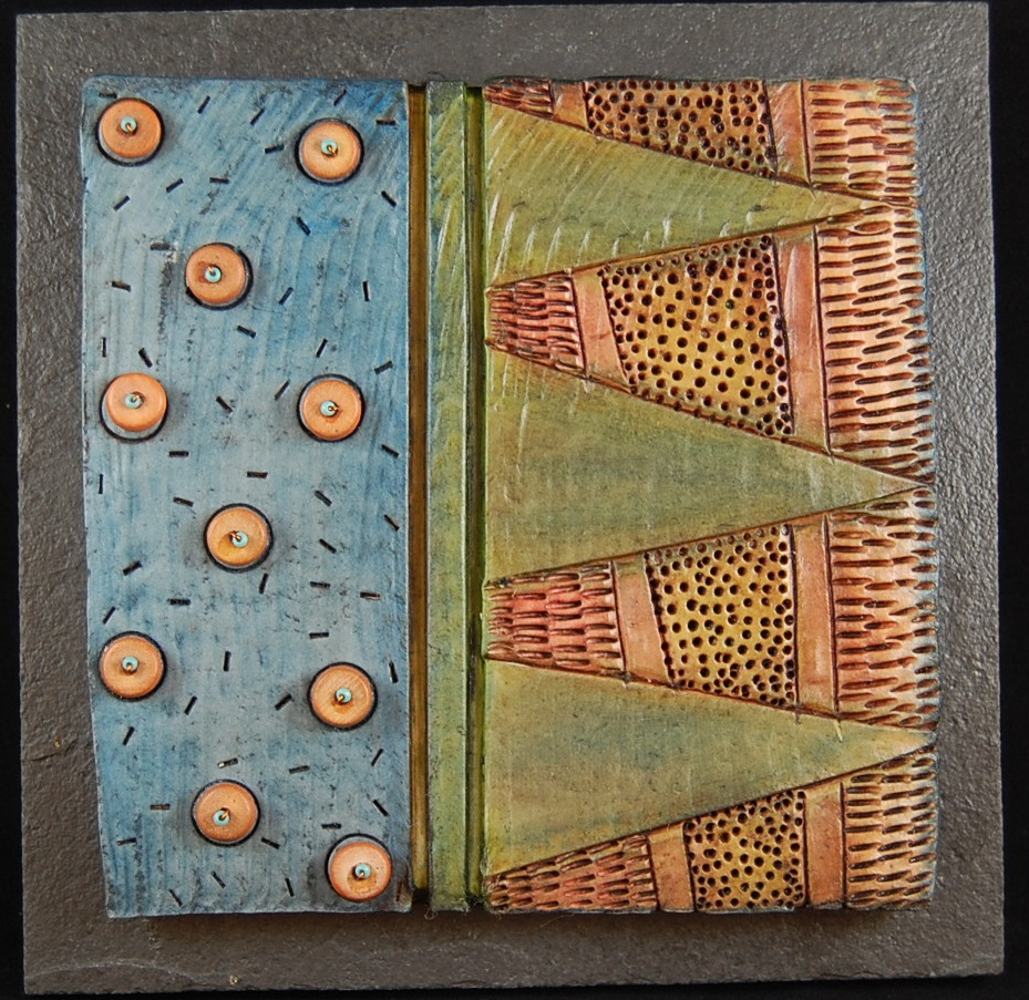 quilted whimsies - Vicki Grant6 x 6  Ceramic on stoneSee more from this artist