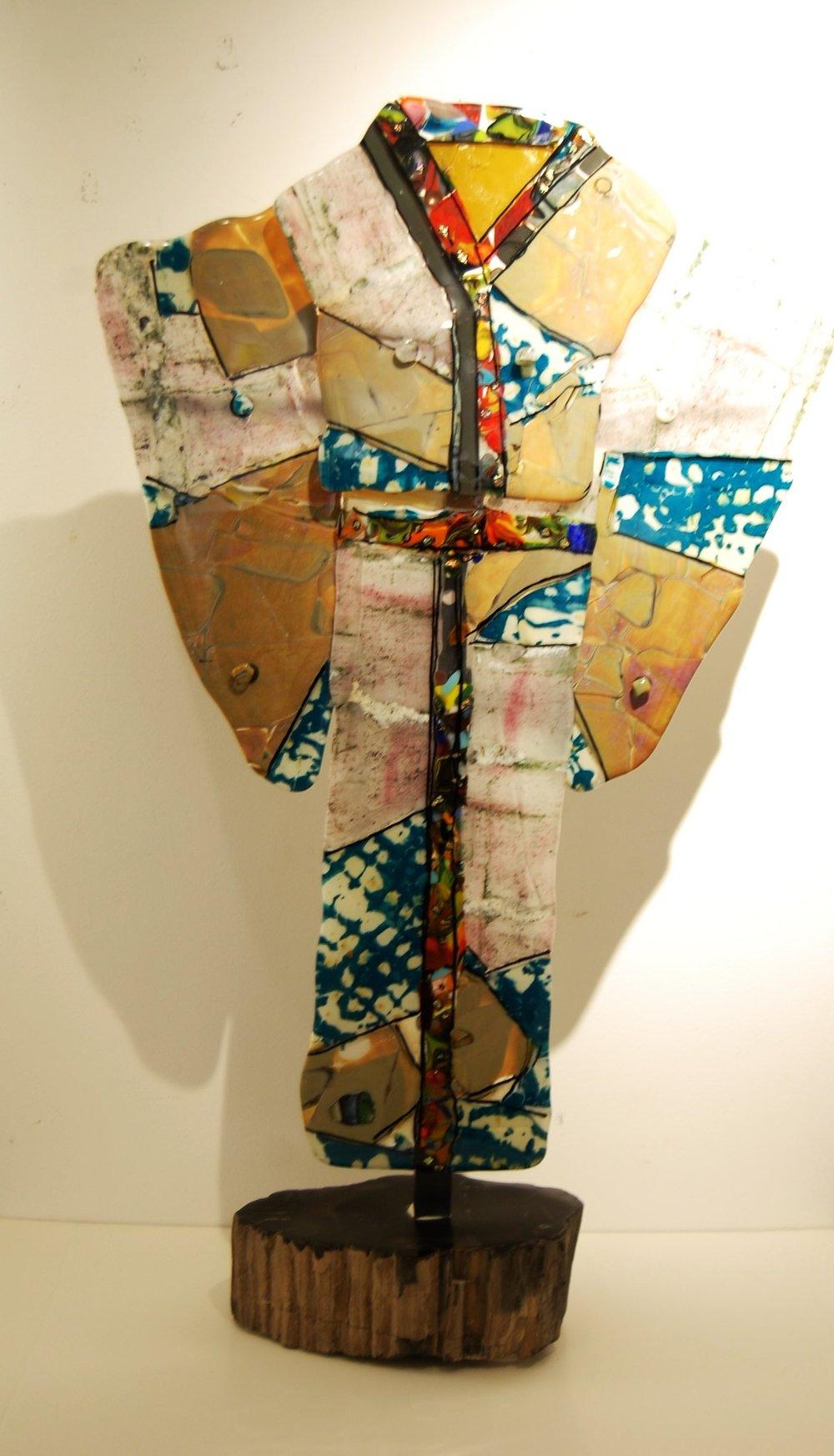 kimono - Alli Luedtke20 x 33 x 8  Fused glass